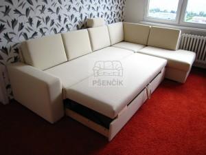 moderní rohové sedačky na spaní