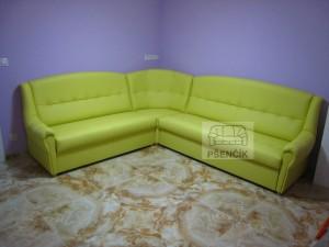 Rohové sedačky kožené rozkládací na míru