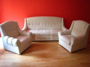 kožené sedačky rozkládací na spaní