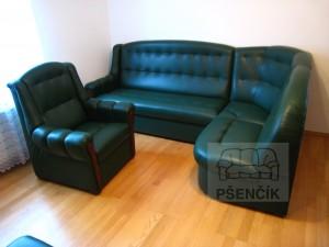 české kožené sedačky rozkládací na spaní