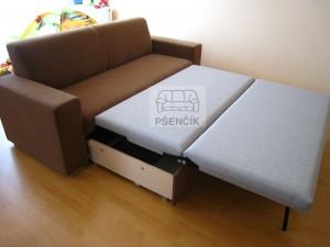 moderní rozkládací sedačka na míru zákazníka české výroby