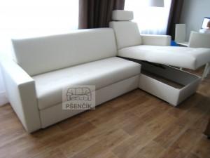 kožené sedačky rozkládací na míru