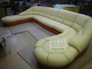 kožené luxusní sedací soupravy