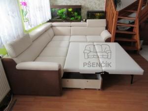 luxusní rozkládací sedací souprava