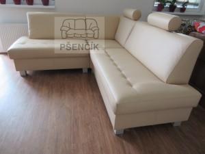 rohová kožená sedací souprava